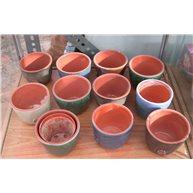Ceramic pot cover Round 6.5cm