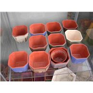 Ceramic pot cover Square 6.6cm